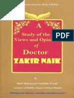 A Study of the Views Zakir Naik by Mufti Muhammad Ubaidullah