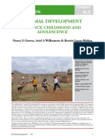 Normal Development- Infancy, Childhood and Adolescence