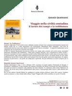 """Antonio Quattranni - """"Viaggio nella civiltà contadina. Il lavoro dei campi e la trebbiatura"""" (Annulli Editori, 2013)"""