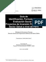 Guia de Proyectos de Inversión Publica del Sector Salud a Nivel de Perfil