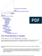 The Three Schools of 'Aqidah