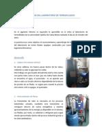 Informe Del Laboratorio Termofluidos