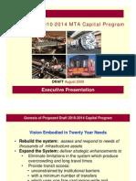Draft Proposed 2010-2014 MTA Capital Program Executive Pr