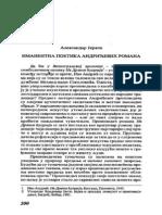 Jerkov,Imanentna poetika Andrićevih romana