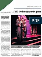La R'vue 2013 - Critique Tribune de Genève