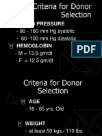 Lecture 7a- Donors Criteria