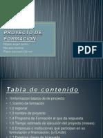 FORMATO PROYECTO DE FORMACIÓN