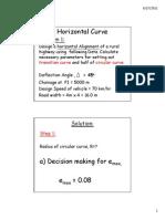 Horizontal Alignment Design Example