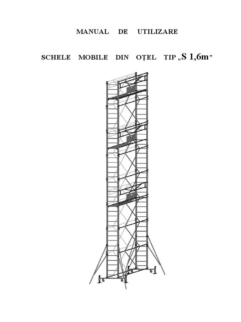Manual de Utilizare Schele Mobile Otel 16x07