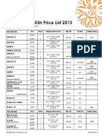 Glass Kiln Price List 2013