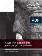 Oval Zoo and Wildlife Insurance Brochure