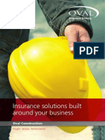 Oval Construction Insurance Brochure