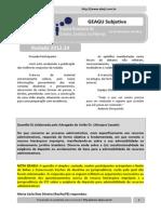 Resultado GEAGU Subjetiva - Rodada 2012.34 (Ata)