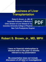 The Business of Liver Transplantation