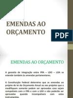 EMENDAS AO ORÇAMENTO