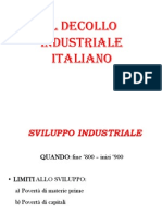 Il Decollo Industriale Italiano
