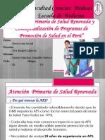 APS RENOVADA Y PROGRAMAS DE PROMOCIÓN DE SALUD