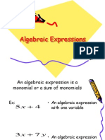 algebraic expressions and inequalities