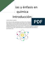 Ciencias y énfasis en química