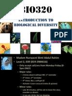 Bio320 Chap 1
