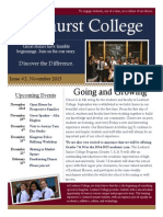 Leahurst College Community Newsletter - November 2013