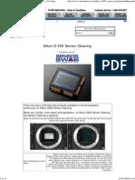 Nikon D200 Sensor Cleaning