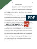 Autobiographical Essay/ Essay / Paper by AssignmentLab.com