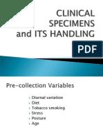 2. SPECIMEN Collection Handling and Transport