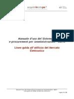 Mercato Elettronico-Linee Guida Utilizzo Del MePA