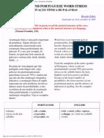 Acentuação Tônica em Inglês e Português - Word Stress - Portuguese & English
