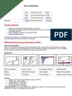 Polymer Characterisation Laboratory