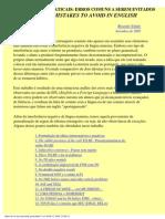 Contrastes Gramaticais entre Inglês e Português