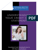 Your statement is easy reading with consolidated credit