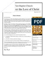 First Baptist Church of Frostproof  Newsletter