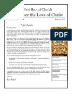 First Baptist Church of Frostproof  Newsletter