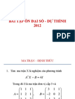 Bai Tap on Dai So - Du Thinh
