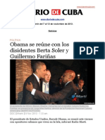 Boletín de DIARIO DE CUBA | Del 7 al 13 de noviembre de 2013.