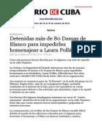Boletín de DIARIO DE CUBA |  Del 10 al 16 de octubre de 2013.