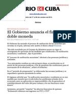 Boletín de DIARIO DE CUBA | Del 17 al 24 de octubre de 2013
