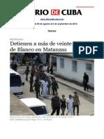 Boletín de DIARIO DE CUBA | DEL 29 de agosto al 4 de septiembre 2013