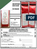 Coffee Orders for Japan Trip 2014