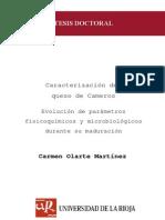 Caracterizacion mIcrobiologica Del Queso de Cameros