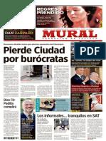 LA REDISEÑADA PORTADA DE MURAL, GRUPO REFORMA, EN GUADALAJARA, DEL JUEVES 21 DE NOVIEMBRE DEL 2013