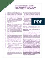 Recomendaciones Comité Derechos economicos