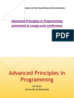 Advanced Principles in Programming Virgina 2012 Confrence