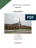 FBCB Church Profile 2013