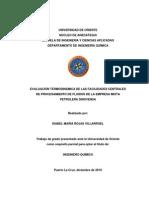 EVALUACIÓN TERMODINÁMICA DE LAS FACILIDADES CENTRALES DE PROCESAMIENTO DE FLUIDOS