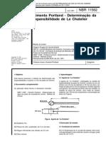 NBR 11582 - Cimento Portland - Determinacao Da Expansibilidade de Le Chatelier