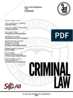 UP Bar Reviewer 2013 - Criminal Law