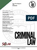 UP Bar Reviewer 2013 - Criminal Law
